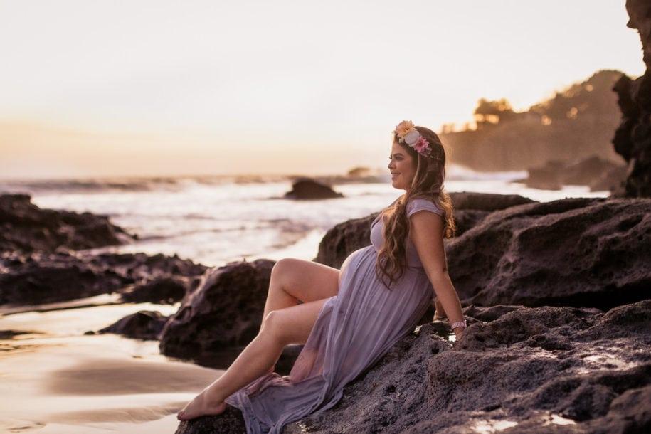 Sesion de fotos de embarazo en la playa